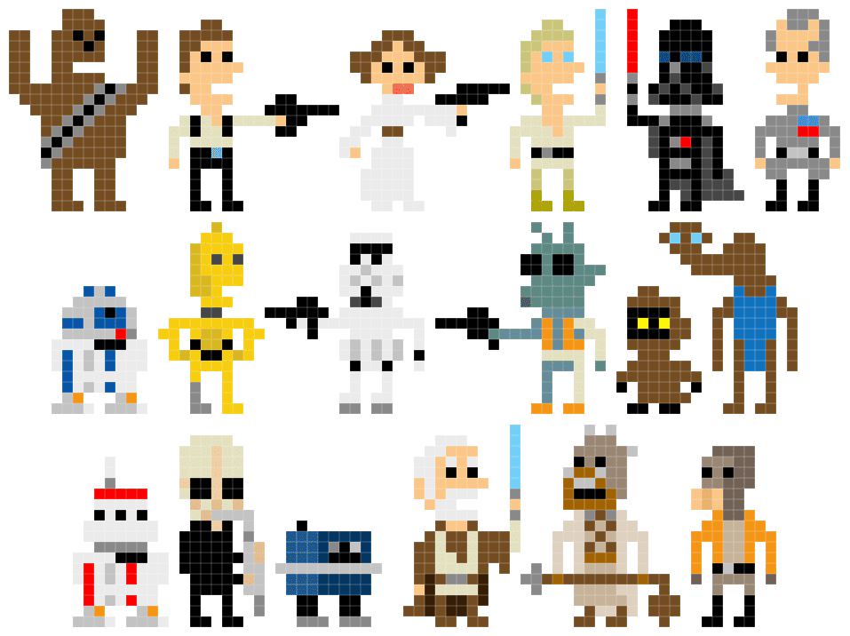 Pixel Star Wars: Welcome Back To The 8-Bit Days!