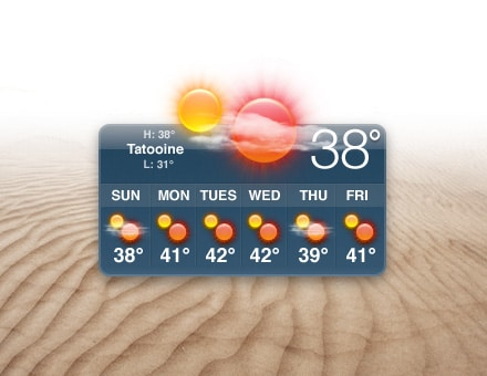 Weather Widget: Show Off The Weather In Star Wars!