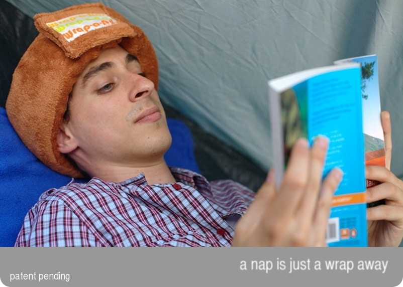 Wrap-a-Nap: Part Pillow, Part Blindfold Makes You Look…
