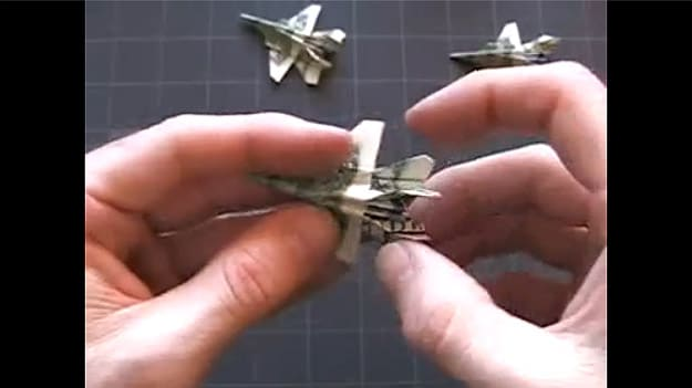 how to make a super sweet f18 out of a dollar bill bit