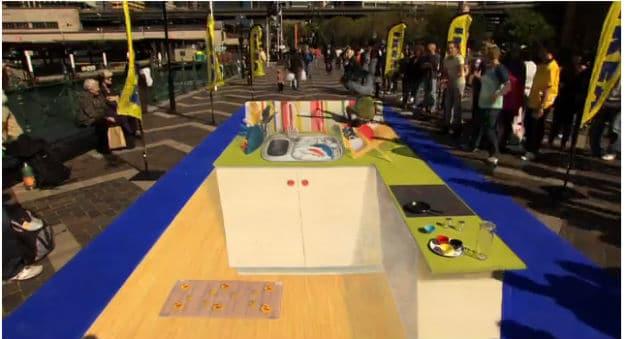 IKEA Creates 3D Chalk Art In Sydney