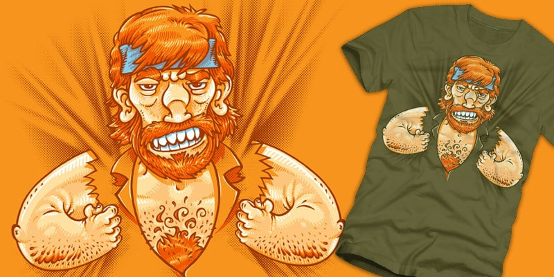 T-Shirt Design: Chuck Norris Is Now Wearing You!