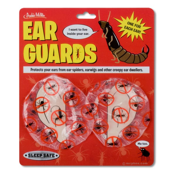 Ear Guards: Keeps Bugs From Nesting In Your Ears!