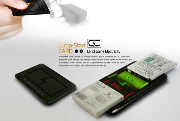 Jump-Start CARD: Borrow Power From Another Cell Phone Or Device
