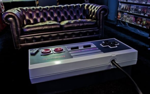 A Giant Functional Nintendo NES Controller Coffee Table!