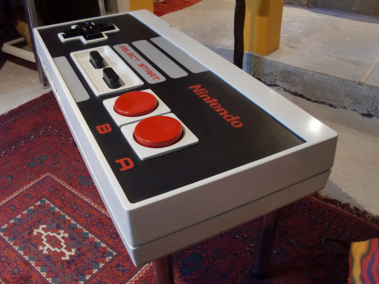 a giant functional nintendo nes controller coffee table bit rebels. Black Bedroom Furniture Sets. Home Design Ideas