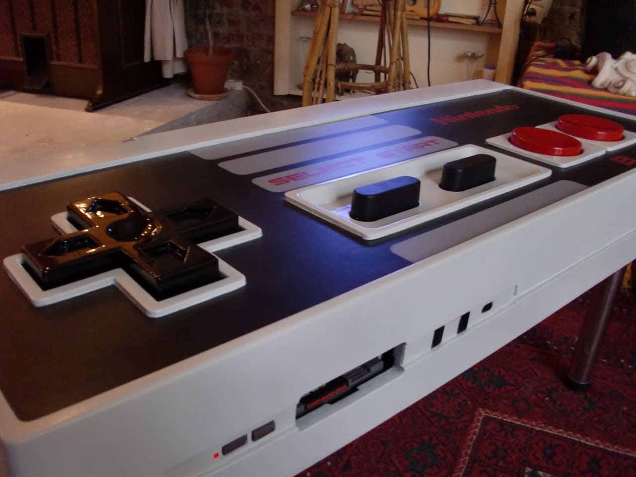 A Giant Functional Nintendo Nes Controller Coffee Table Bit Rebels