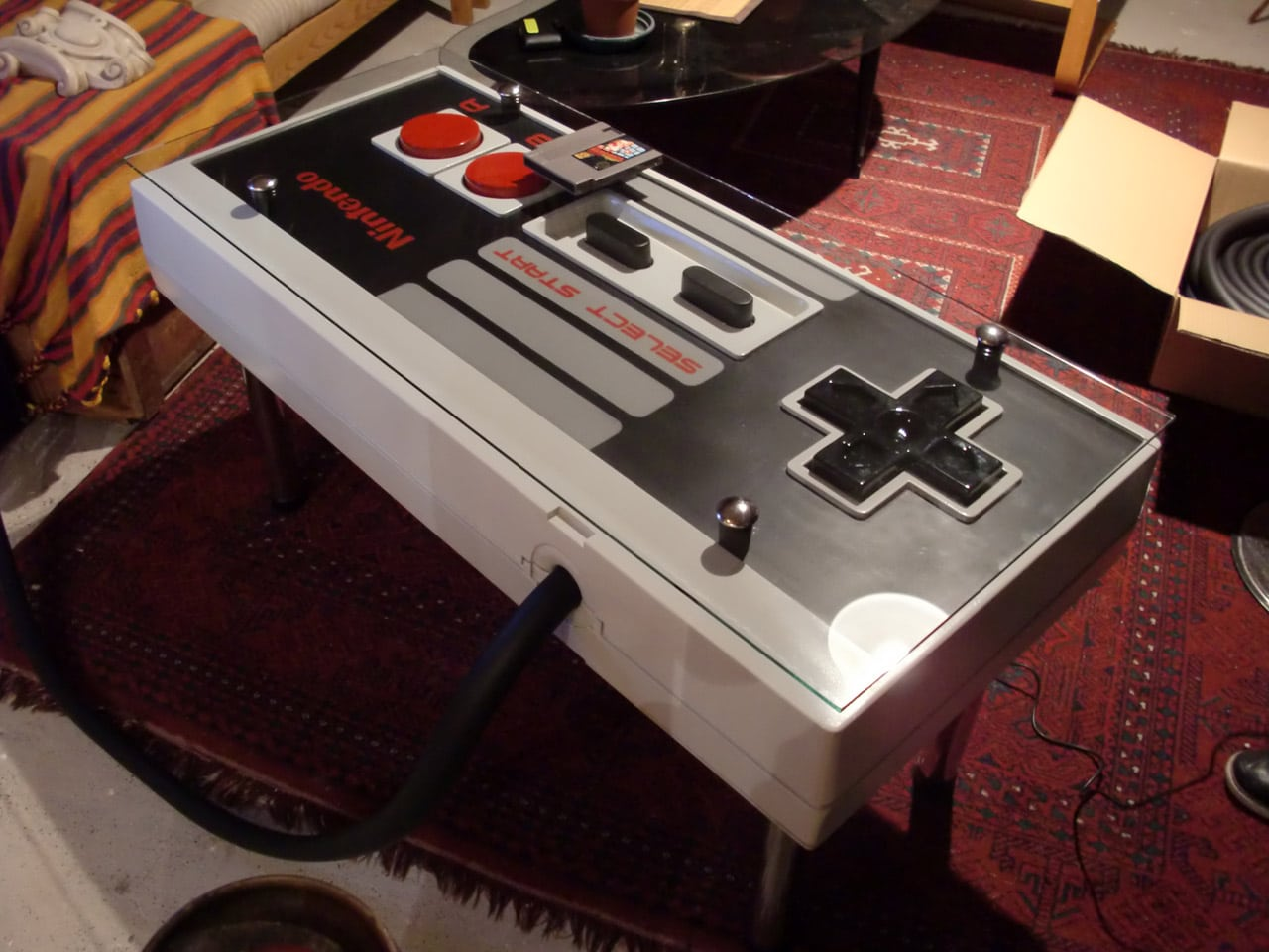 Controller Coffee Table.A Giant Functional Nintendo Nes Controller Coffee Table Bit Rebels