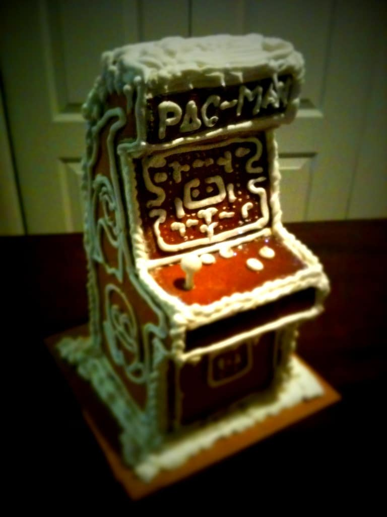 Pac Man For Christmas: Gingerbread Arcade Game