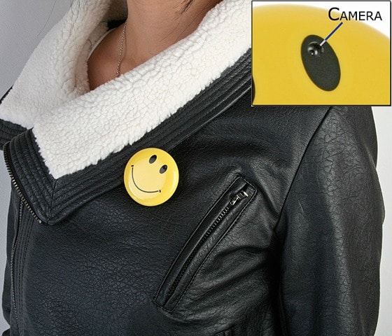 Badge Spy Camera: There's A Secret Behind The Smile!
