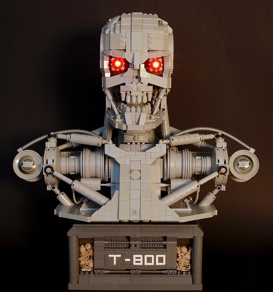 LEGO Bust: T-800 Terminator Recreated Entirely In LEGO
