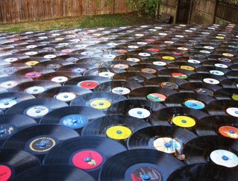 A Roof Shingled With Vinyl Records: A Different Kind Of Retro