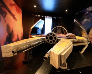 Perfekt Live The Star Wars Fantasy: The Deep Space Fighter Bed