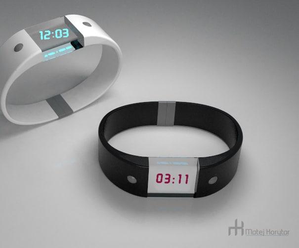 Black White 4D Wrist Watch