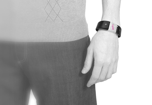 Black Wristband hand 4D Watch
