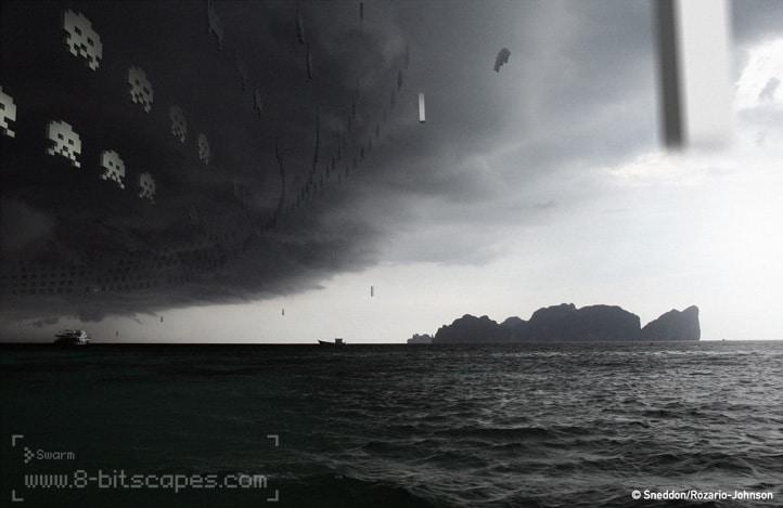 8-Bit Storm Invader Attack