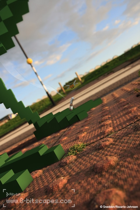 8-Bit Pixel Landscape View