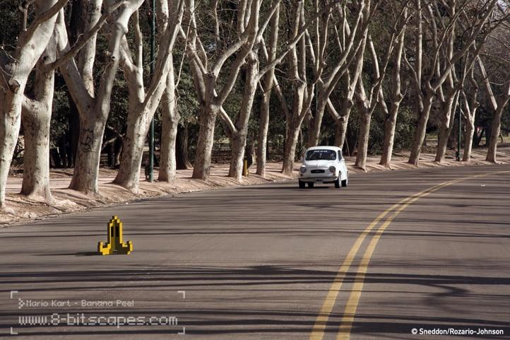 8-Bit Roadblock Car View