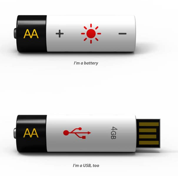 AA USB: The Flash Drive That Doubles As A Battery