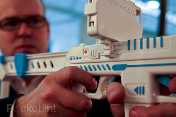Trigger Closeup Holding App Gun