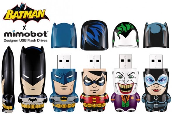 Limited Designer Flash Drives Meet Batman, Superman, Etc.