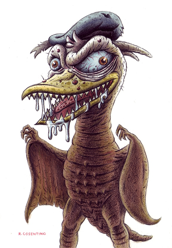 Donald Duck as Rodan