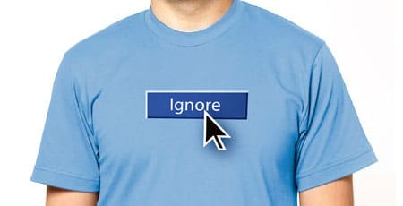 Facebook Ignore Button T-Shirt