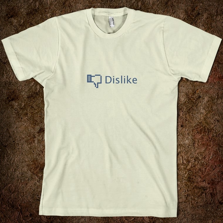 Facebook Dislike Button T-Shirt