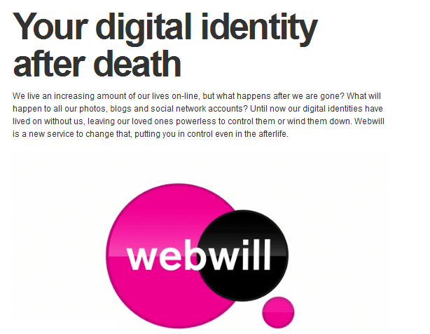 My Webwill: Add A Last Status Update After You're Dead!