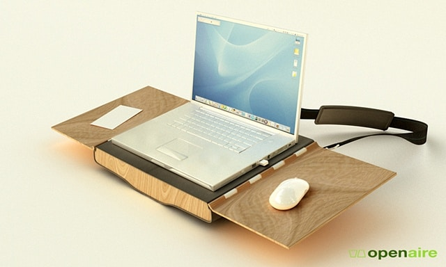 Openaire: Folds From Laptop Bag Into Desk And Chair!