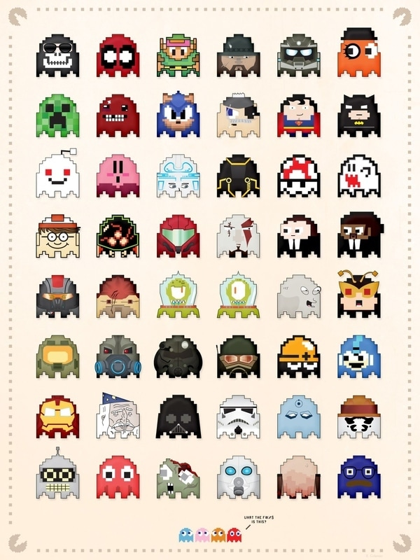 48 New Pac-Man Ghost Villains From Legendary Game Characters