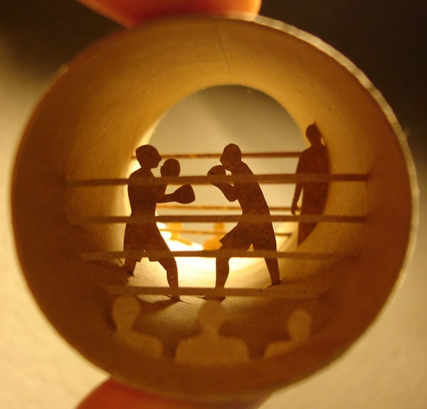 Boxing Champions Paper Roll Tube