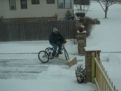 Bike Plow Invention Creation