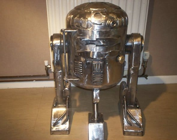 Front View R2-D2 Wood Burner