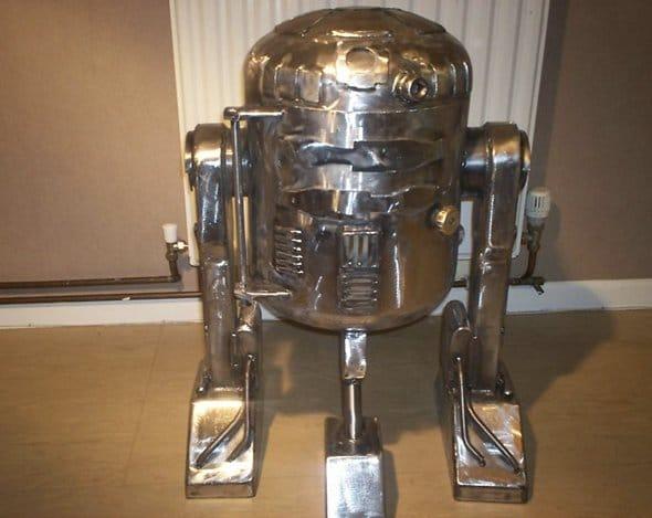 Front View R2-D2 Wood Burner