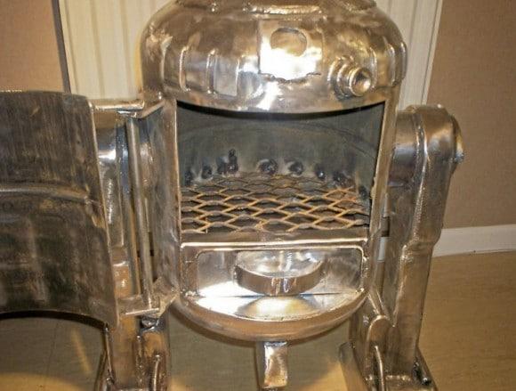 Open Hatchet R2-D2 Wood Burner