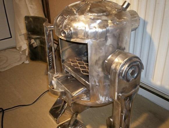 Side View R2-D2 Wood Burner
