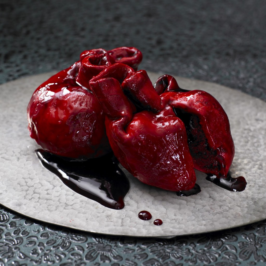Gory Bleeding Heart Cake