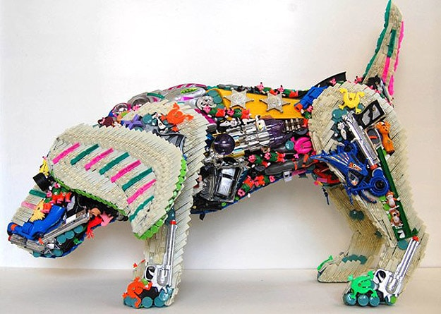 Toys Become Dog Sculptures
