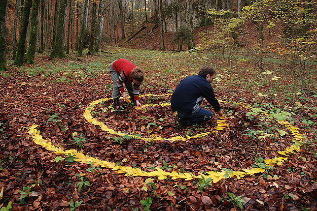 Land Art created with nature