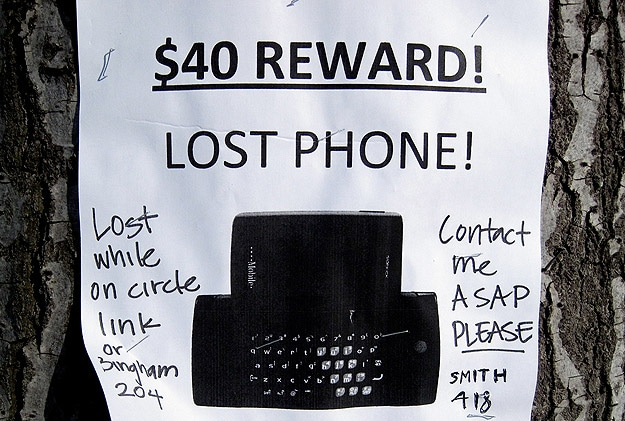 Sign For Misplaced Phone