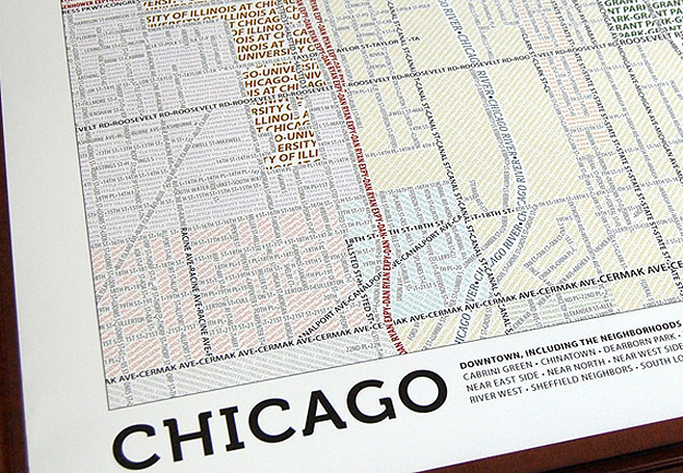 Design: City Maps Hand-Woven From Typography