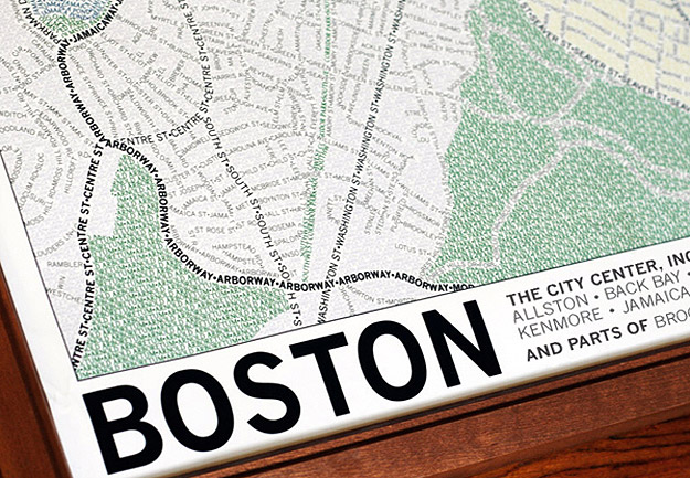 Handmade Typographic City Maps