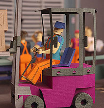 Papercraft: A Factory, An Office & People All Created With Paper!