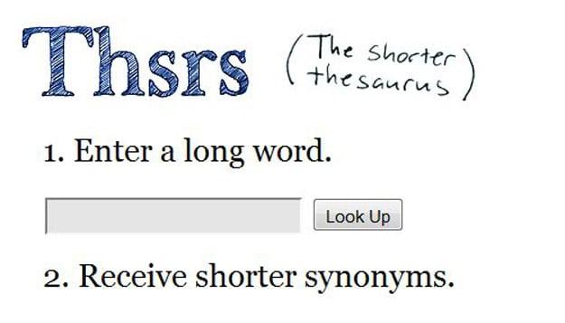 Thsrs Shorten Your Words