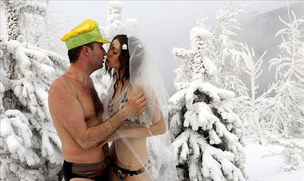 Marriage Ceremony in Freezing Water