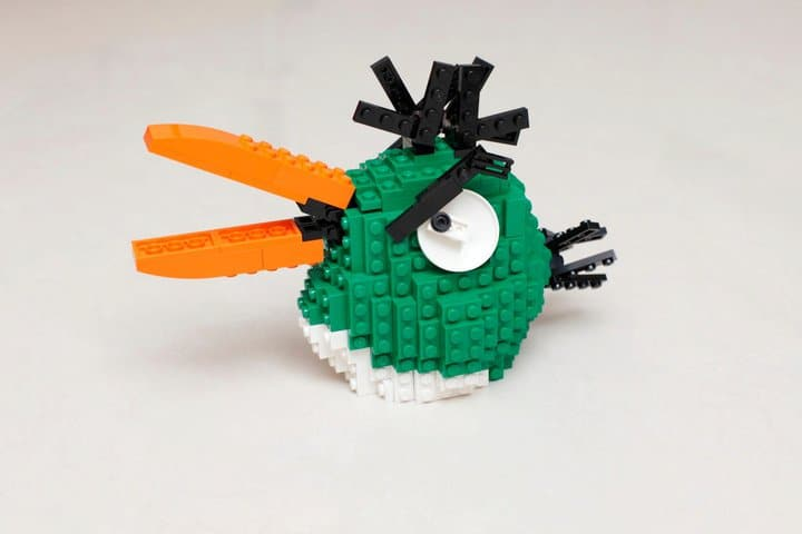 Green Angry Bird Lego Build