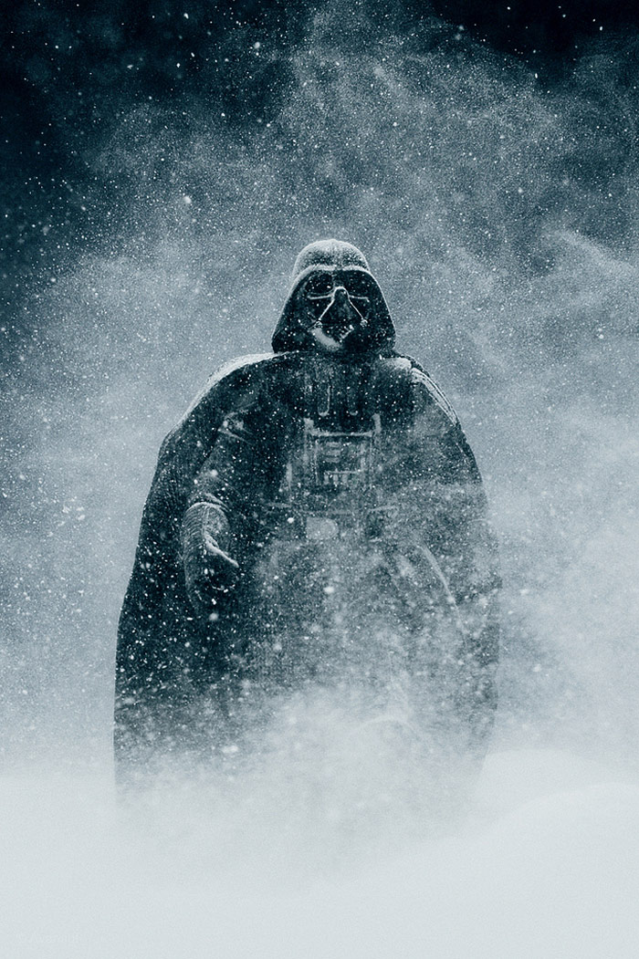 Darth Vader In Snow Blizzard