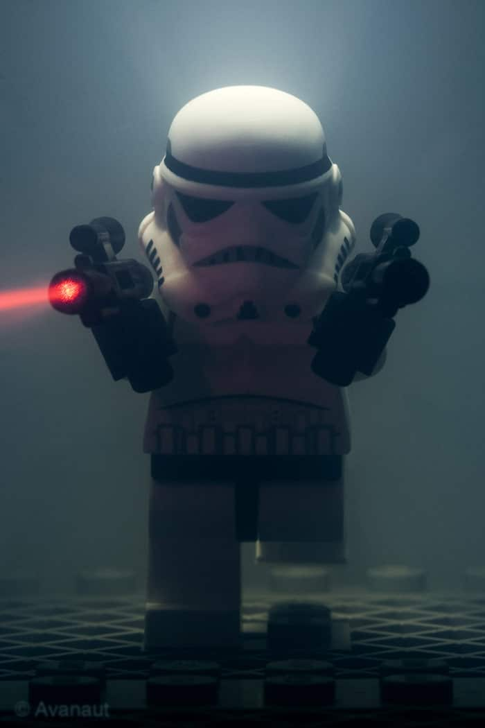 Stormtrooper Shooting Laser Guns