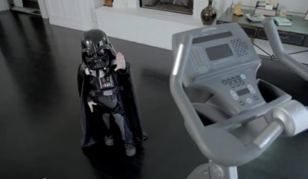 Baby Darth And The Crosstrainer
